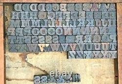Lot o 193 Antique Wood Letterpress Print Type Block Letter Number 11/16 Vintage