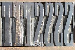 Lot of 248 Vintage Wood Letterpress Print Type Block Alphabet Letter Punctuation