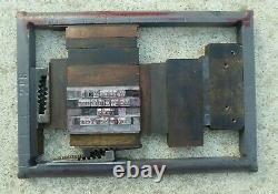 Lot of 2 Chase for Chandler & Price Pilot Press #228 6.5 x 10 Letter press