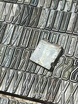 Lot of 60pt letterpress lead type 227 pieces unknown font exactly as shown