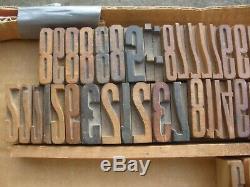 Lot of 697 Wood Letterpress Print Type Block Alphabet Letter Numbers Punctuation