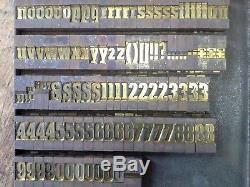 Ludlow Font 60 pt Caps+LC Letterpress Printing Brass Type