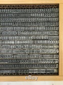 Lydian Bold Condensed 14 pt Letterpress Type Vintage Printing Sorts Font