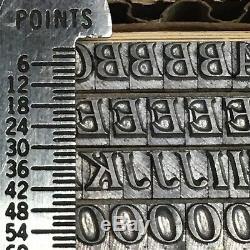 McFarland Italic 14 pt Letterpress Type Vintage Metal Printing Sorts Font