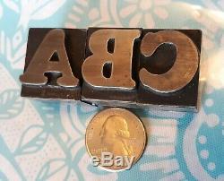 Metal Typeset Letterpress Letters 72 Pt Cooper Black Font Bb&s Chicago Rare