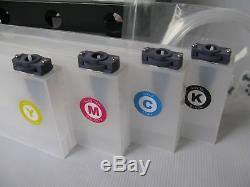 Mimaki JV33 / JV34 / CJV30 Mimaki Bulk Ink System-4 Bottles, 8 Cartridges USA
