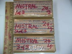 Mistral 24 pt. Letterpress Metal type Printers Type