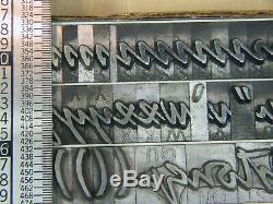 Mistral 48 pt. Letterpress Metal type Printers Type