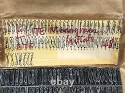 Monogram Initials 48 pt. Letterpress Metal type Printers Type