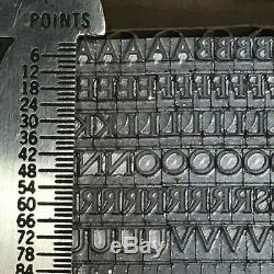 Monotype Pastonchi 14 pt Letterpress Type Metal Lead Printing Sorts Font