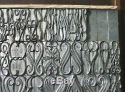 N E W 72pt ATF Penline Flourishes +Large Font+ Letterpress Type (4-A)