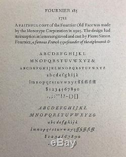 New Letterpress Type 12 point Fournier