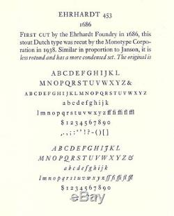 New Letterpress Type -12pt. Ehrhardt complete font