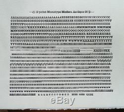 New Letterpress Type 12pt. Modern Antique 26