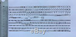 New Letterpress Type 18 pt. Janson