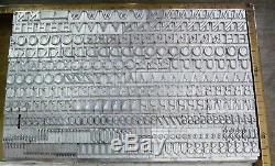 New Letterpress Type- 24 Point Nicolas Cochin, complete font