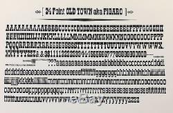 New Letterpress Type 24 pt. Old Town / Figaro