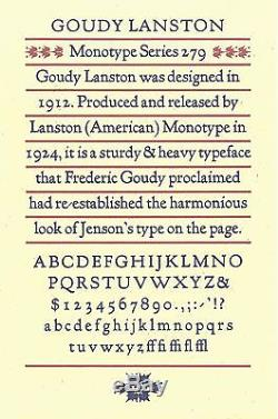 New Letterpress Type- 24pt. Goudy Lanston Caps
