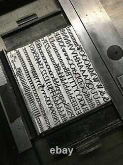 New Letterpress Type 36 point Goudy Old Style Roman
