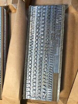 New Letterpress Type, Univers 53 Medium Wide 24 pt, M & H Foundry