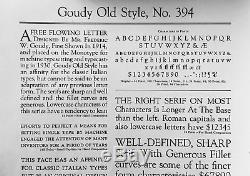 New Letterpress type -14pt. Goudy Oldstyle complete font