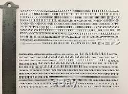 New Letterpress type Rare 13/14 Bembo Roman