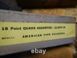New & Used American Type Founders Other Print Press Lines Spacers 10 18 43 Point