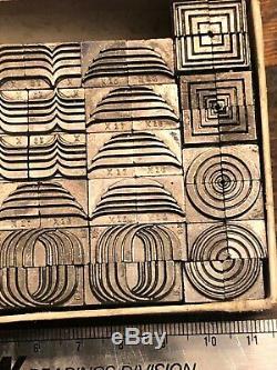 Ombree Decorative Ornaments Letterpress Metal Border Corner Press Print Dingbat