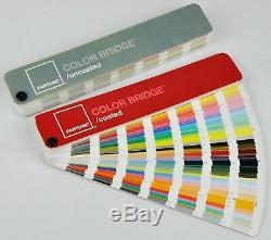 PANTONE Color Bridge Coated & Uncoated PMS Color Fan Books Set, copyright 2005