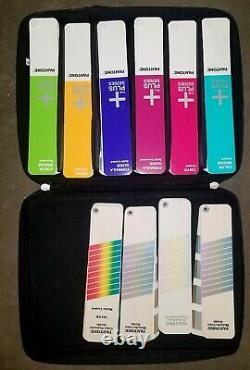 Pantone Color Guide Set Kit 10 Fan Books with Carry Case
