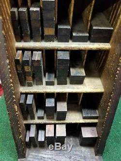 Printers Letterpress Hamilton Furniture Cabinet with Furniture Vintage