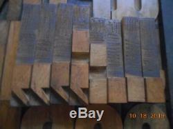 Printing Letterpress Printer Block Antique Large Wood Alphabet Marked