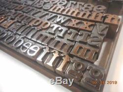 Printing Letterpress Printer Block Antique Upper & Lower Case Wood Alphabet w #s