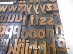 Printing Letterpress Printer Block, Wood Alphabet Unmarked Antique, Printer Cut