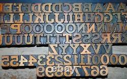 Printing Letterpress Printers Block Wood Type Numbers Letters 13/16 Tall