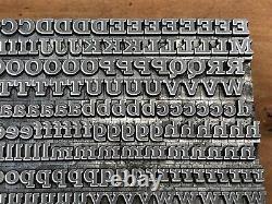 RARE 18pt Monotype Antique Shaded Letterpress Print Type A-Z Letter # Set