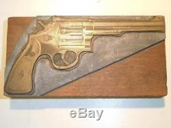 Rare Smith & Wesson S&W K-38 Heavy Masterpiece Revolver Vintage Printers Block