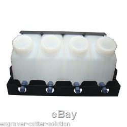 Roland Continuous Bulk Ink System FOR Mamaki Mutoh 4 Bottles, 4 Cartridges