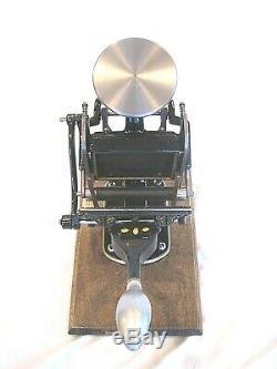 Sigwalt Chicago #10 1 Roller Lever Letterpress Press New Roller Mint Condition