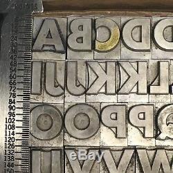 Spartan Black 42 pt ATF 683 Letterpress Type Vintage Printer's Lead Metal