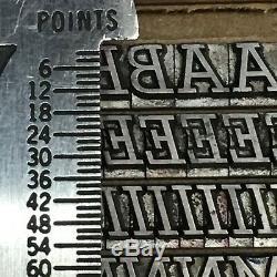 Stymie Medium Italic 18 pt ATF #555 Letterpress Type Vintage Printing Font