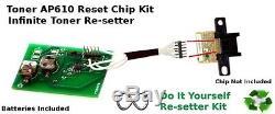 Toner Cartridge Ricoh Aficio AP610 400759 Infinite Reset Resetter Chip Type 115