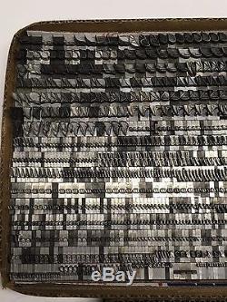 Trafton Script 30 pt Letterpress Type Vintage Printer's Lead Metal Type