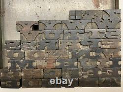 Tuscan Extended Wood Type 5/8 letterpress alphabet printing vandercook 42pc