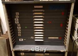 Type Cabinet King McKay12 drawer apt studio size letterpress UPSable! AN02