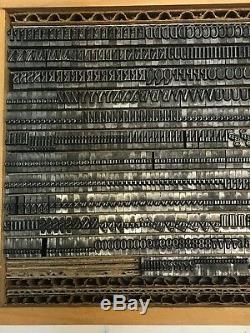 Typo Roman 18 pt Letterpress Type Vintage Metal Printing Sorts Font Fonts
