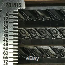Typo Script 24 pt Letterpress Type Vintage Metal Lead Sorts Font Fonts