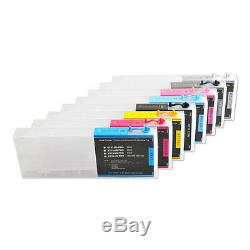 USA 8pcs Refill Ink Cartridge for E pson Stylus Pro 4800 220ml with 4 Funnels