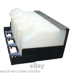 USA! Roland Continuous Bulk Ink System for Mimaki Mutoh 4 Bottles, 4 Cartridges