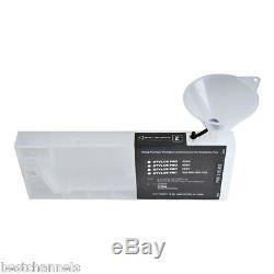 US 7pcs Epson Stylus Pro 7600 / 9600 Refilling Cartridge + 4 Funnels